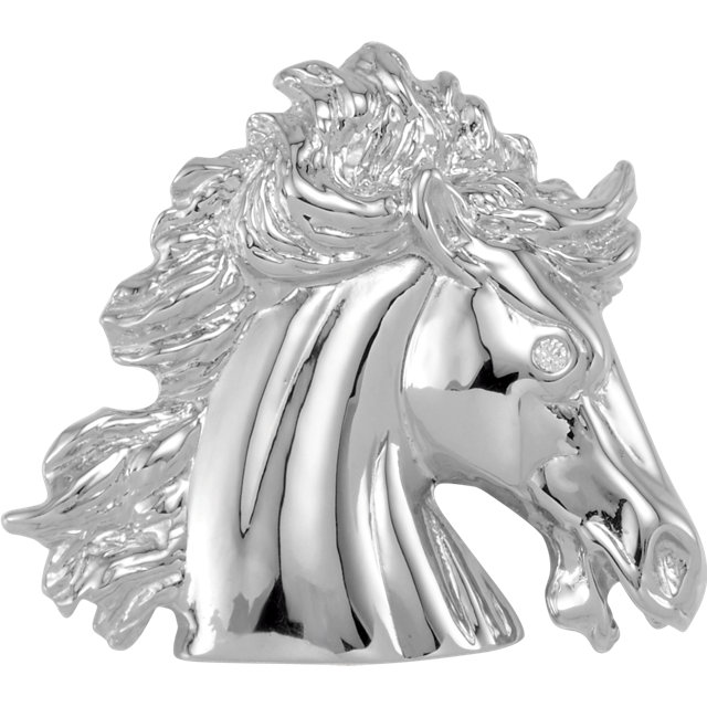 14 Karat White Gold The Lipizzaner Pendant