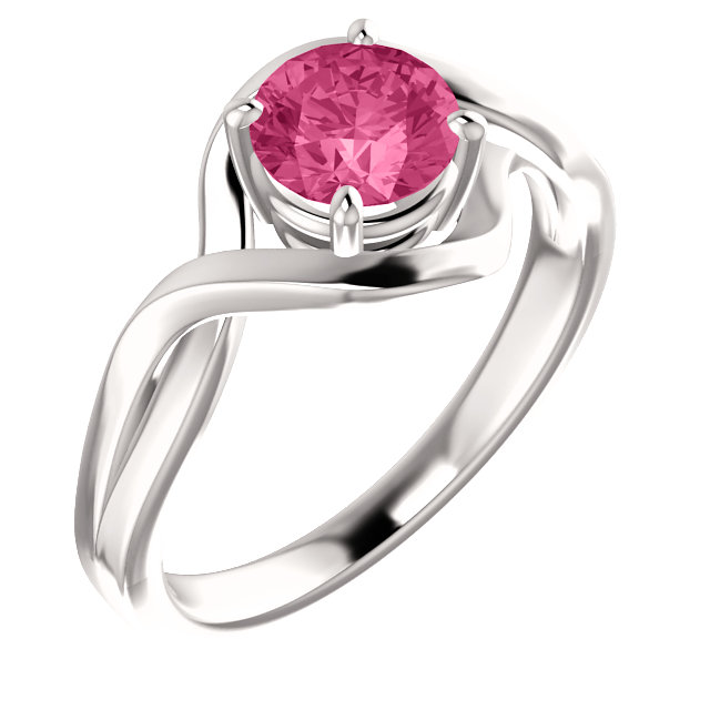 Perfect Jewelry Gift 14 Karat White Gold Tourmaline Ring
