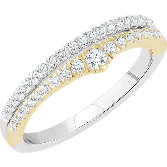 Low Price on 14 KT White Gold & Yellow 0.33 Carat TW Diamond Ring