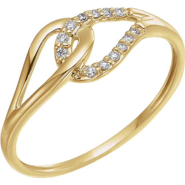 Deal on 14 KT Yellow Gold .08 Carat TW Diamond Ring