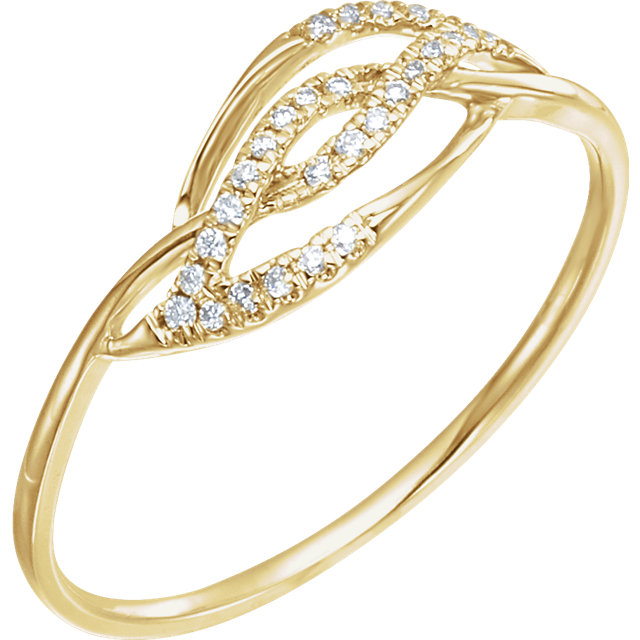 Buy Real 14 KT Yellow Gold .08 Carat TW Diamond Ring