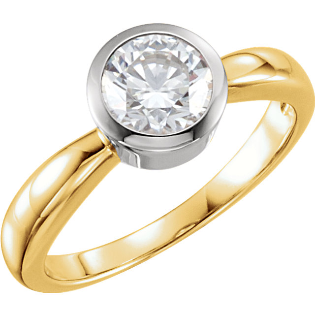 Perfect Gift Idea in 14 Karat Yellow Gold 0.50 Carat Total Weight Diamond Solitaire Engagement Ring