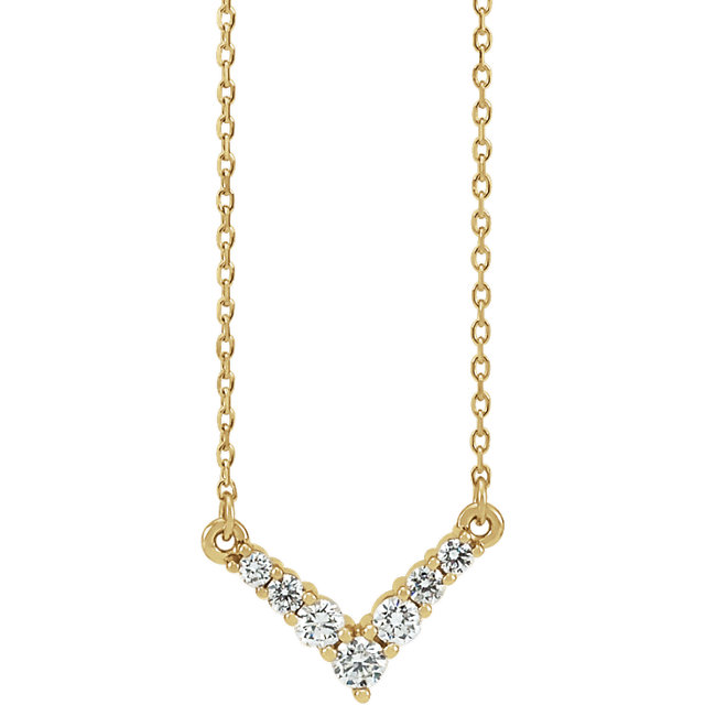14 Karat Yellow Gold 0.33 Carat Diamond