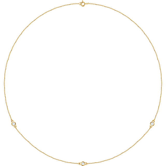 14 Karat Yellow Gold 0.25 Carat Diamond Bezel 18