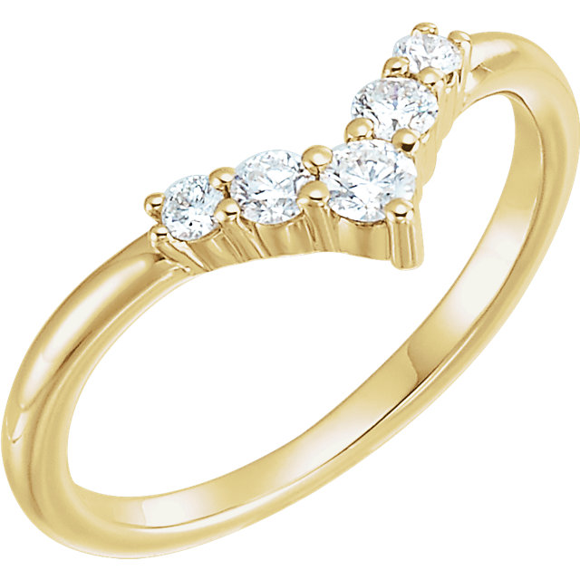 Genuine 14 KT Yellow Gold 0.25 Carat TW Diamond Graduated