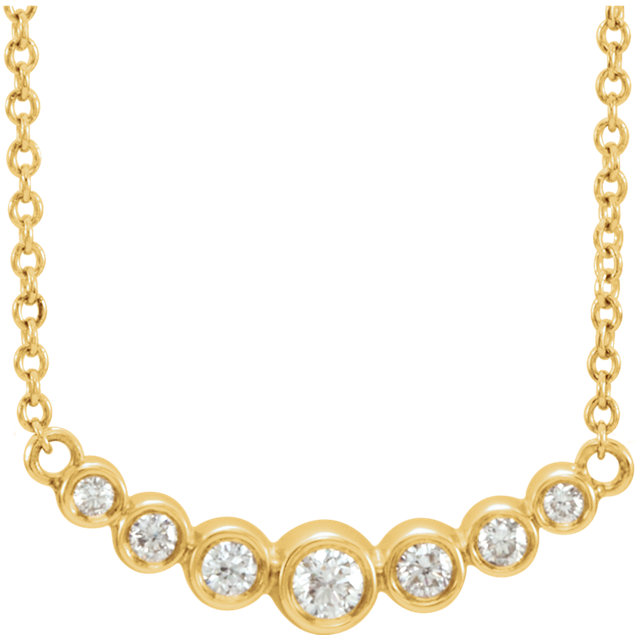 14 Karat Yellow Gold 0.20 Carat Diamond 16-18
