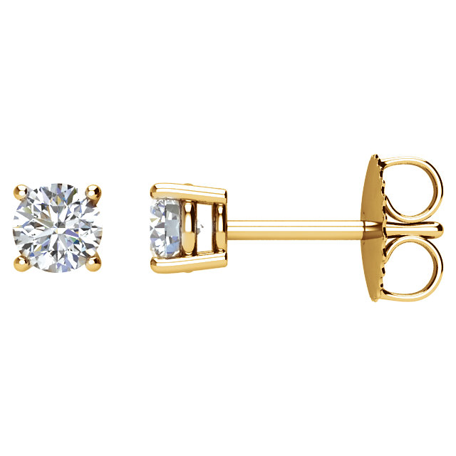 Low Price on 14 KT Yellow Gold 0.20 Carat TW Diamond Earrings