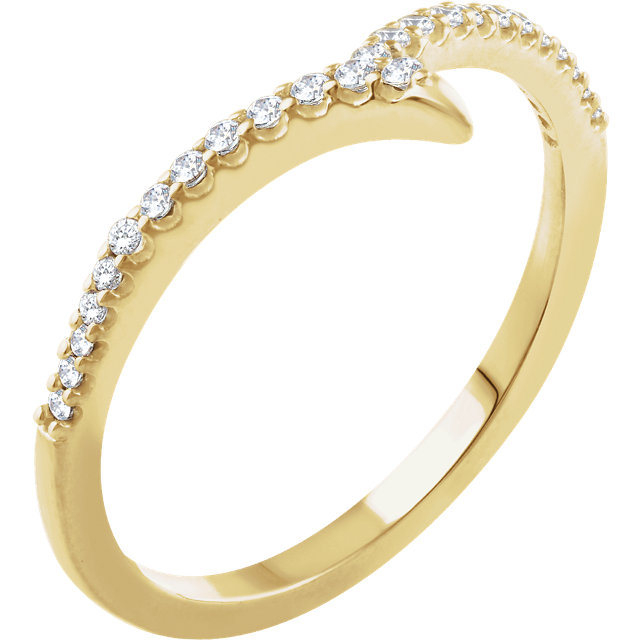 Genuine 14 KT Yellow Gold 0.17 Carat TW Diamond Ring