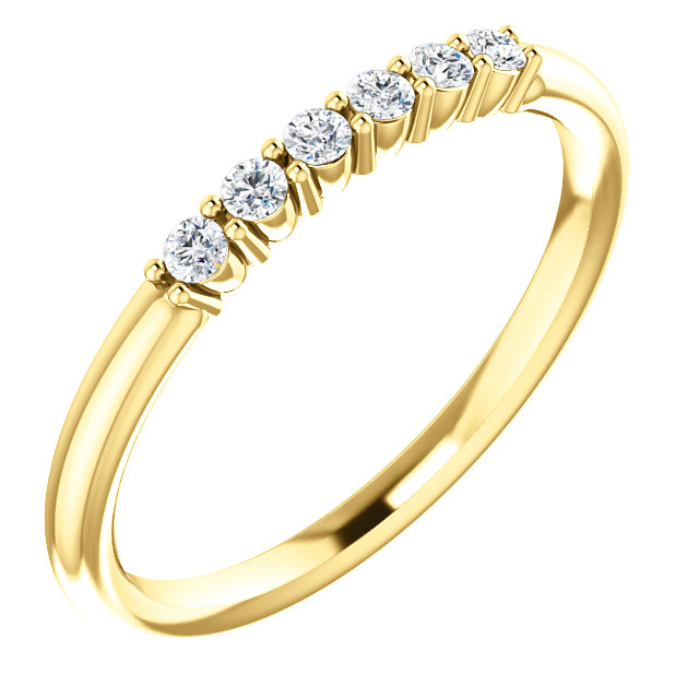14 KT Yellow Gold 0.12 Carat TW Diamond Stackable Ring