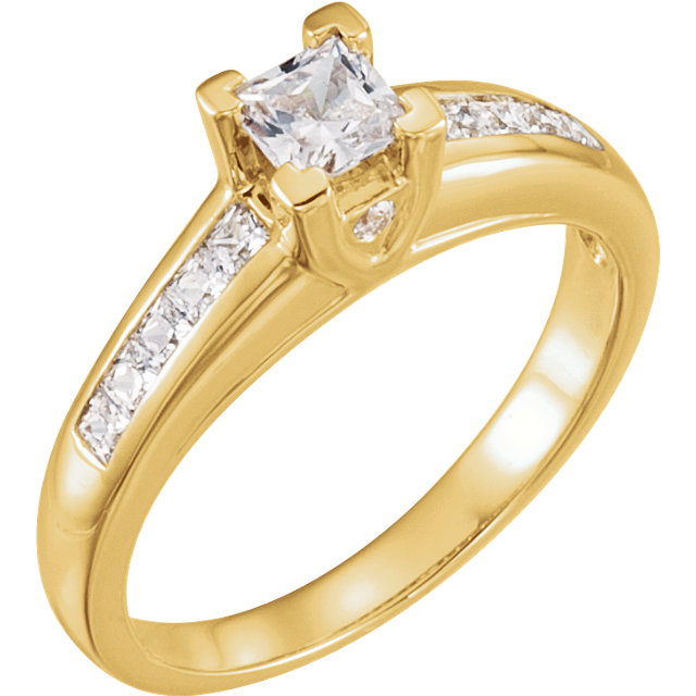 Shop Real 14 KT Yellow Gold 0.75 Carat TW Diamond Engagement Ring