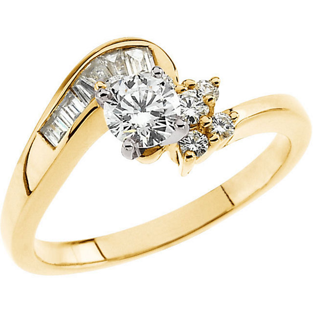Diamond Ring in 14 Karat Yellow Gold 0.60 Carat Diamond Engagement Ring