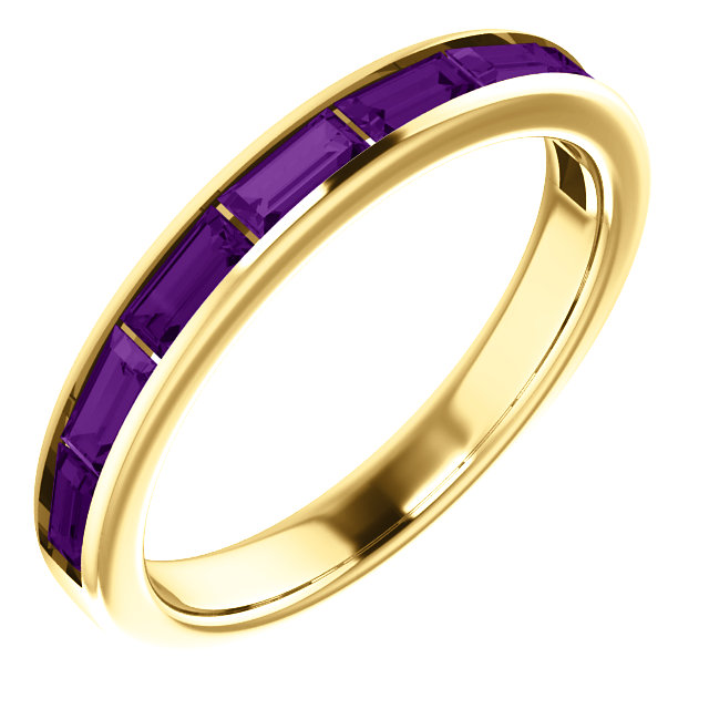 Great Gift in 14 Karat Yellow Gold Amethyst Ring