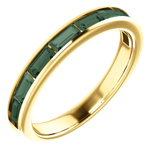 Perfect Gift Idea in 14 Karat Yellow Gold Genuine Chatham Created Created Alexandrite Ring