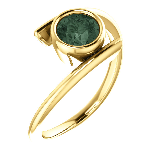 Genuine 14 Karat Yellow Gold Chatham® Alexandrite Ring