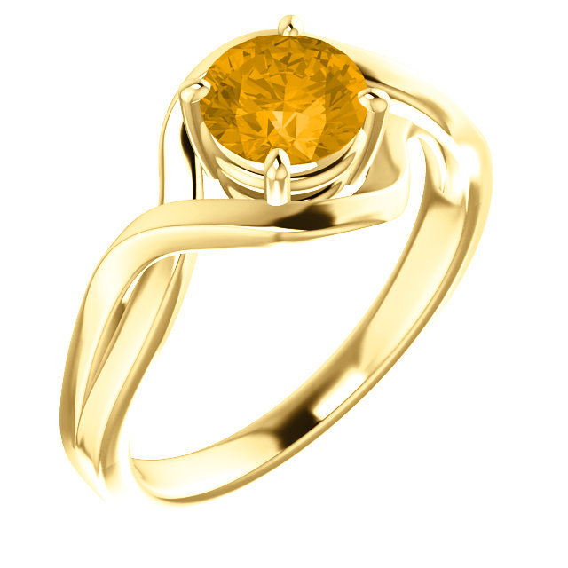 Quality 14 KT Yellow Gold Citrine Ring