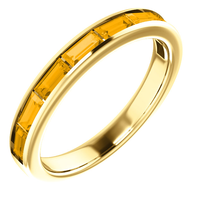 Great Gift in 14 Karat Yellow Gold Citrine Ring