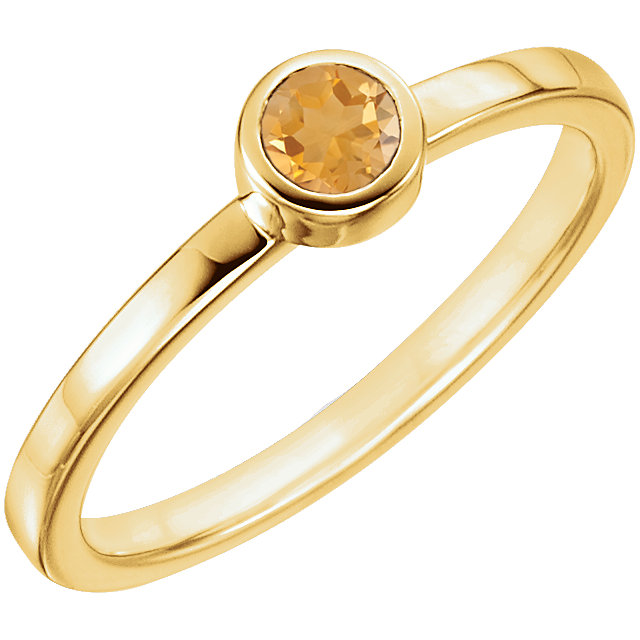 Beautiful 14 Karat Yellow Gold Citrine Ring