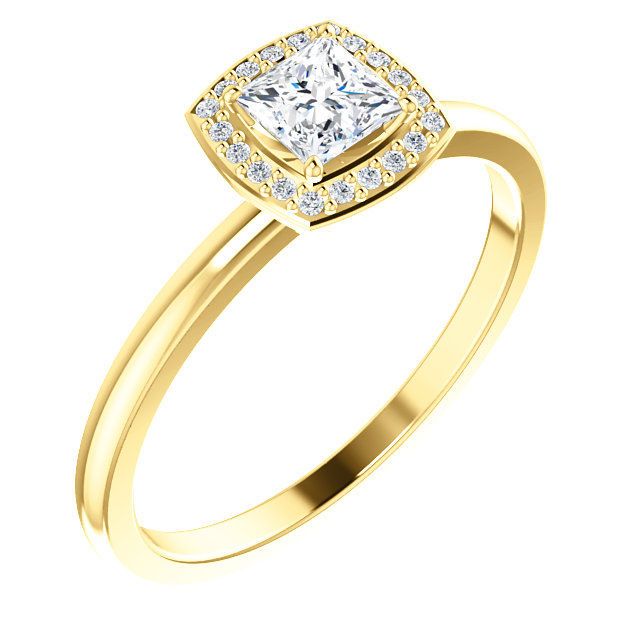 Low Price on Quality 14 KT Yellow Gold Diamond & .05 Carat TW Diamond Ring
