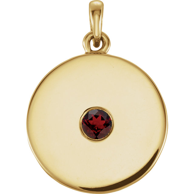Surprise Her with  Red Garnet Mozambique Garnet Disc Pendant