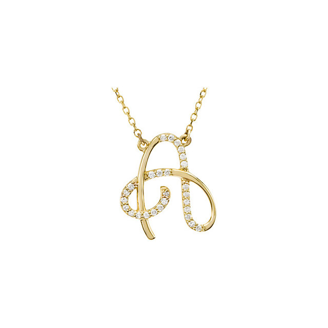 Genuine 14 KT Yellow Gold Letter