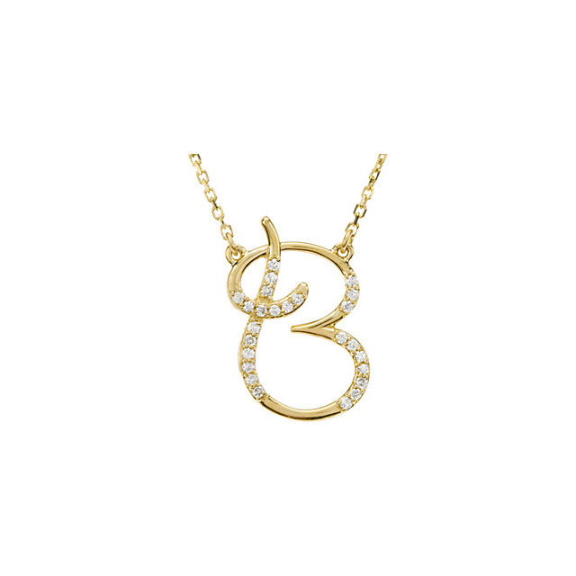 Great Deal in 14 Karat Yellow Gold Letter