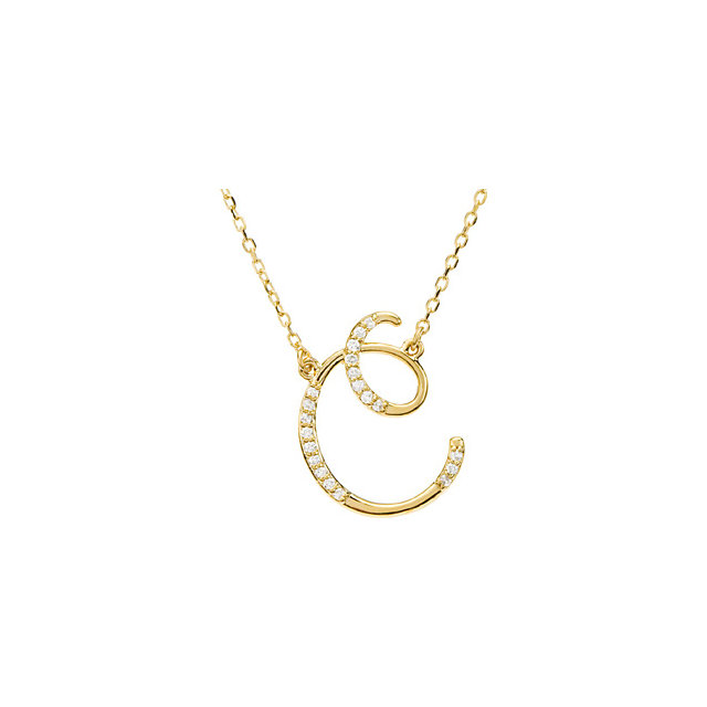 Buy Real 14 KT Yellow Gold Letter