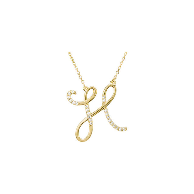 Jewelry in 14 KT Yellow Gold Letter