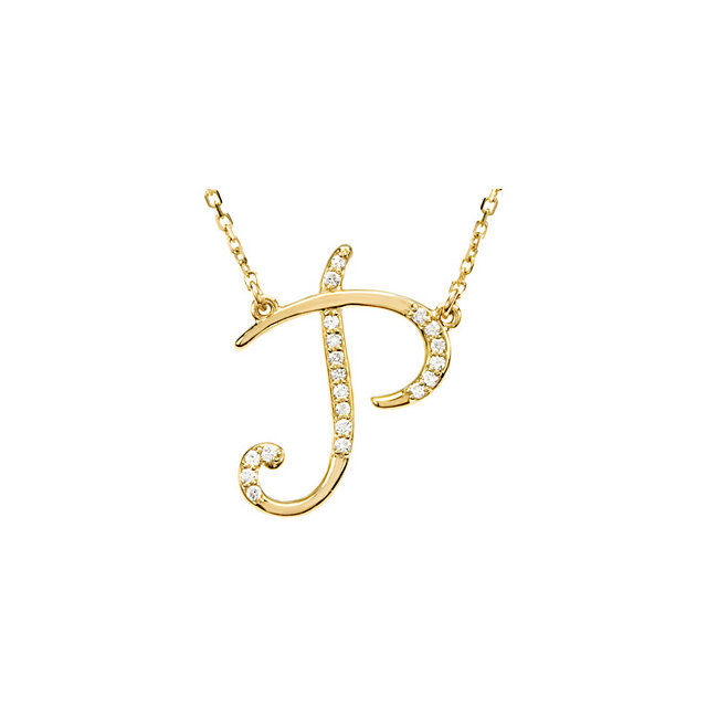 Must See 14 KT Yellow Gold Letter