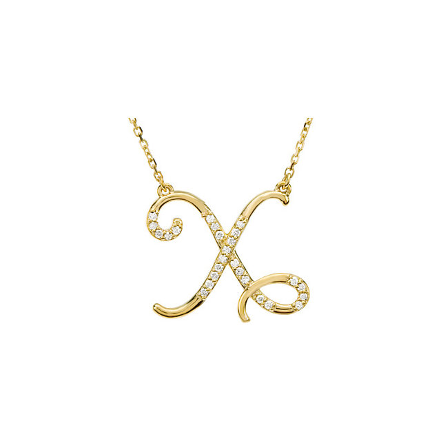 Buy 14 Karat Yellow Gold Letter