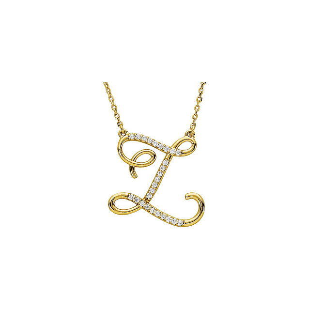 Jewelry Find 14 KT Yellow Gold Letter
