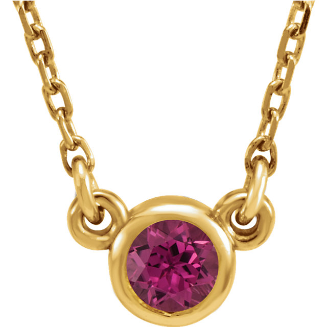 Jewelry in 14 KT Yellow Gold Pink Tourmaline 16