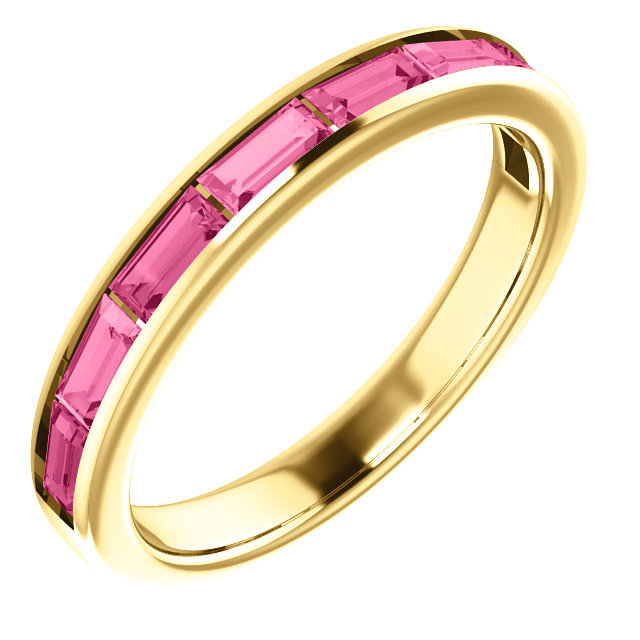 Great Gift in 14 Karat Yellow Gold Pink Tourmaline Ring