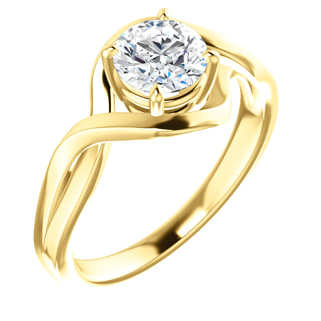 Very Nice 14 Karat Yellow Gold Sapphire Ring