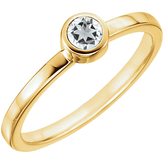 Surprise Her with  14 Karat Yellow Gold Sapphire Ring
