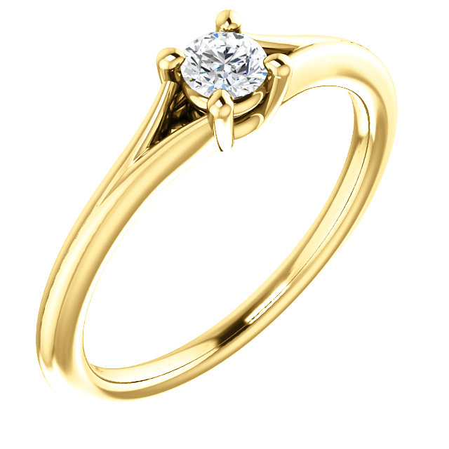 Genuine Sapphire Ring in 14 Karat Yellow Gold Sapphire Youth Ring