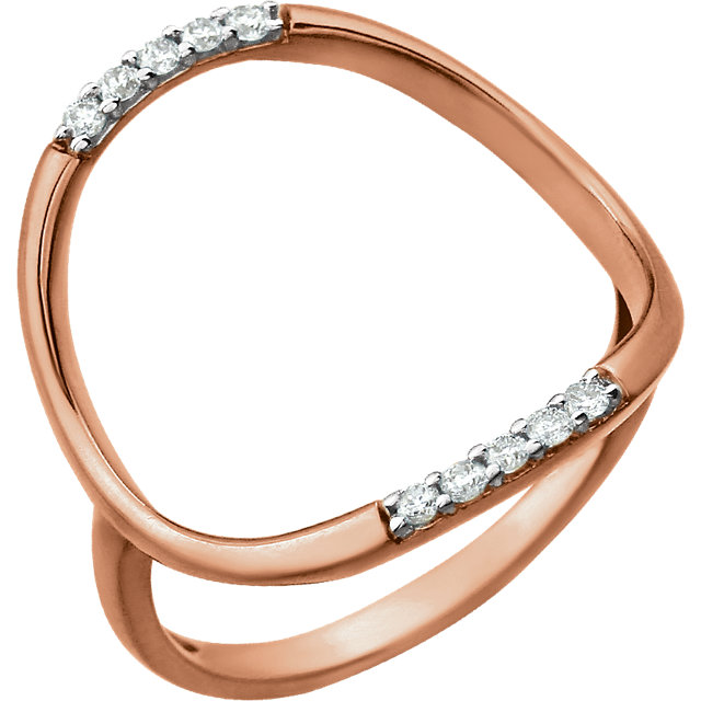 14 KT Rose Gold 1/10 Carat TW Diamond Ring