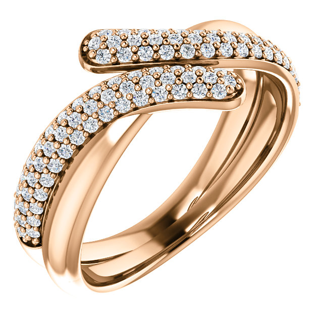 14 Karat Rose Gold 0.50 Carat Diamond Ring