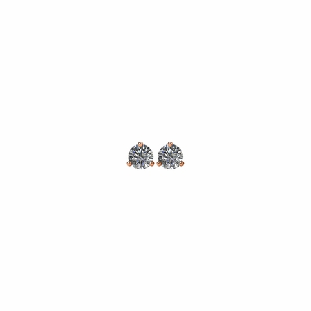 14 KT Rose Gold 1/2 Carat Total Weight Diamond Stud Earrings