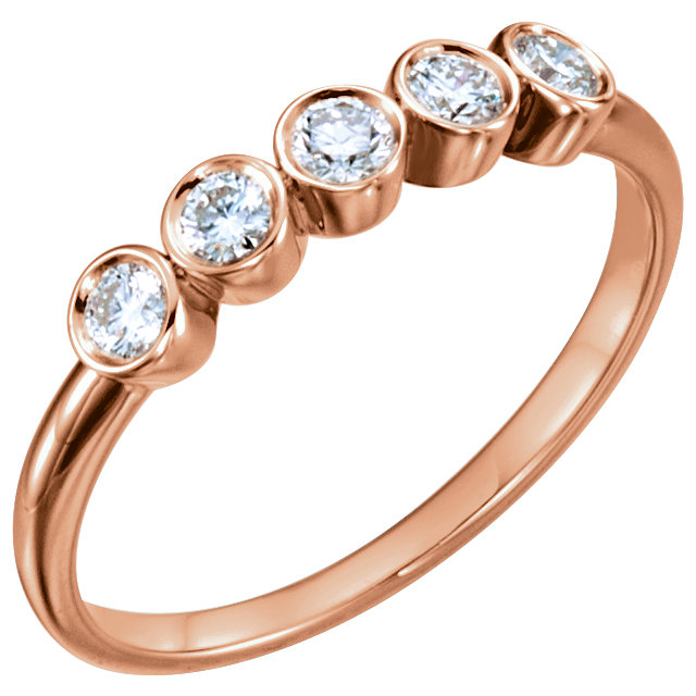 Great Buy in 14 KT Rose Gold 0.33 Carat TW Diamond Ring