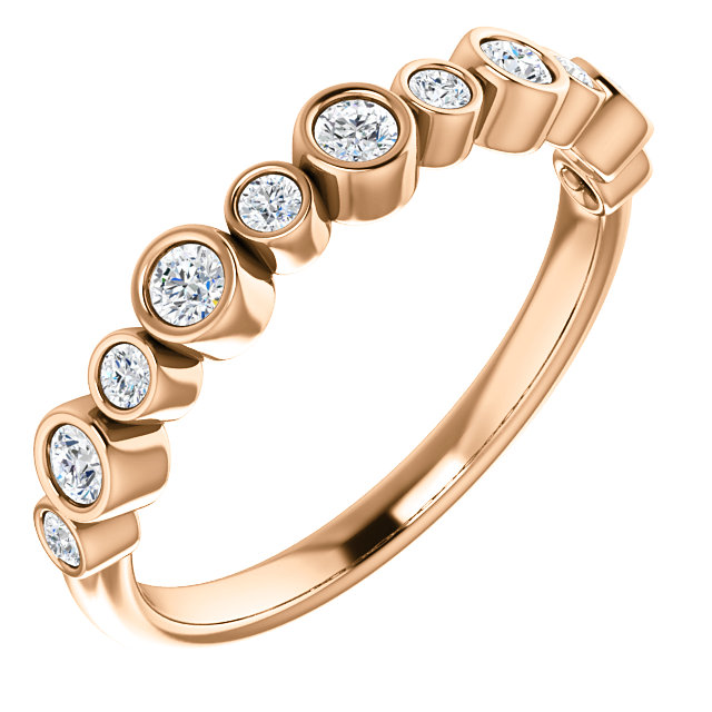 Jewelry in 14 KT Rose Gold 0.33 Carat TW Diamond Ring
