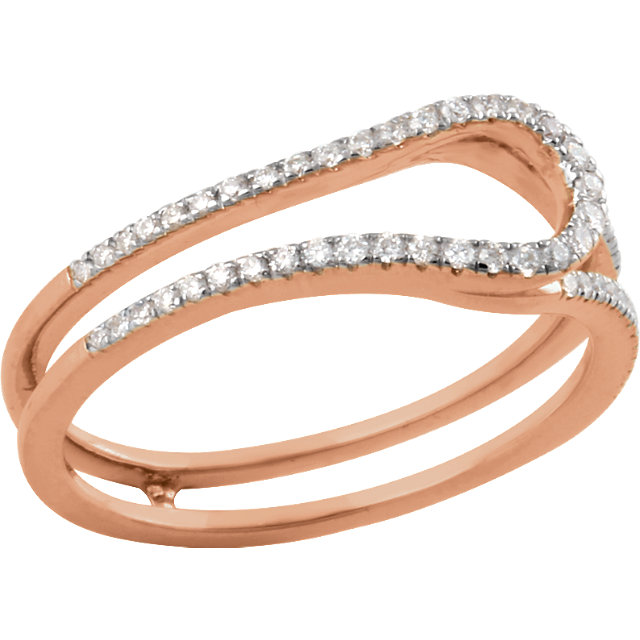 14 KT Rose Gold 1/4 Carat TW Diamond Freeform Ring