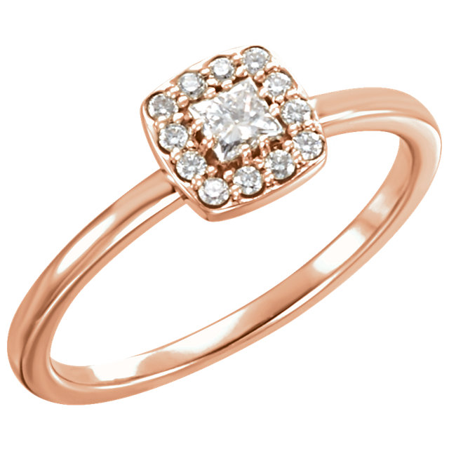 Great Buy in 14 KT Rose Gold 0.25 Carat TW Diamond Stackable Ring