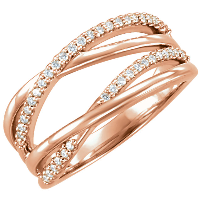Buy 14 Karat Rose Gold 0.20 Carat Diamond Ring