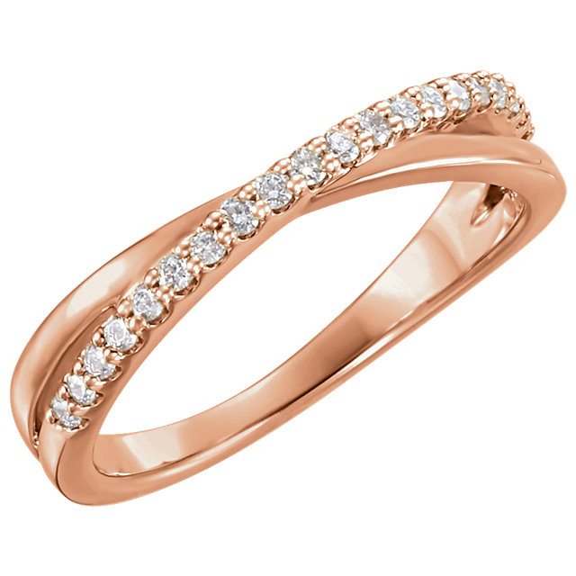 Buy Real 14 KT Rose Gold 0.20 Carat TW Diamond Ring