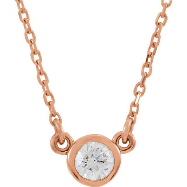 Shop 14 Karat Rose Gold 0.17 Carat Diamond 18