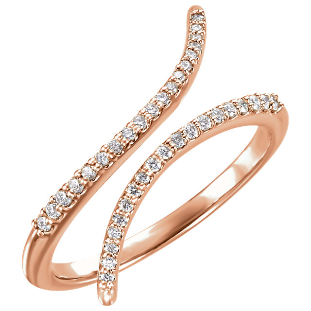 Quality 14 KT Rose Gold 0.17 Carat TW Diamond Ring