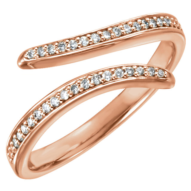 Shop 14 Karat Rose Gold 0.17 Carat Diamond Ring