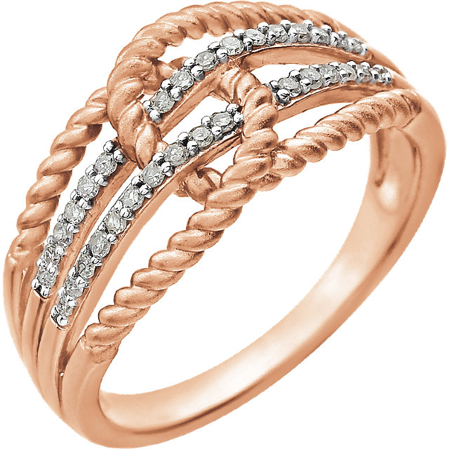14 KT Rose Gold 1/6 Carat TW Diamond Ring