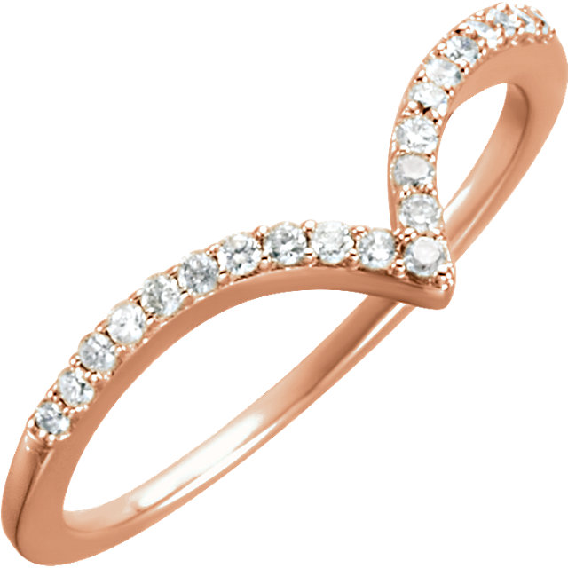 Genuine 14 KT Rose Gold 0.17 Carat TW Diamond