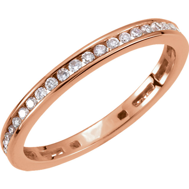 Surprise Her with  14 Karat Rose Gold 0.40 Carat Total Weight Diamond Stackable Ring